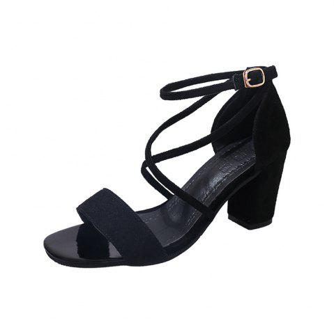 Affordable Middle Sexy Comfortable Temperament Show Toe Thick Heel Female Shoes