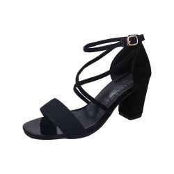 Middle Sexy Comfortable Temperament Show Toe Thick Heel Female Shoes -
