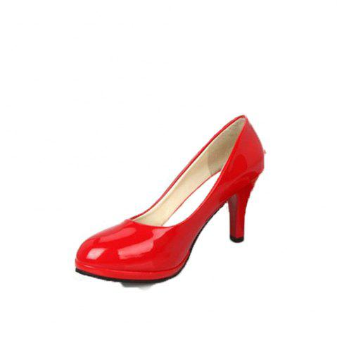 Best Professional Round Head Single Patent Leather Shallow Simple Women's Shoes