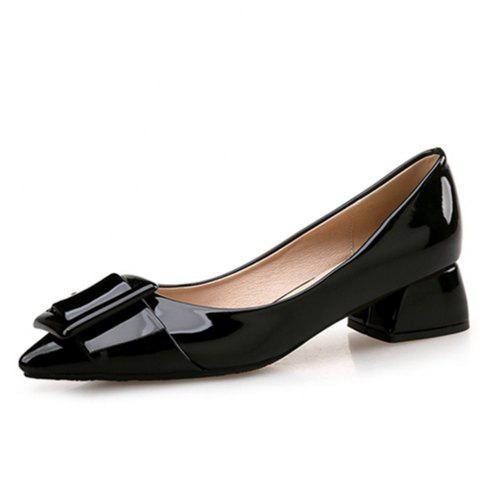 Store VICONE Women Summer Pointed Elegant Chunky Heel Buckle Office Heels Shoes