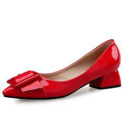 VICONE Women Summer Pointed Elegant Chunky Heel Buckle Office Heels Shoes -