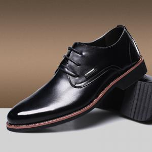 Men New Trend for Fashion Outdoor Walking Lace Up Leather Business Shoes -