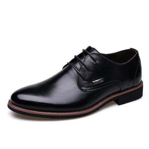 Trendy Men New Trend for Fashion Outdoor Walking Lace Up Leather Business Shoes
