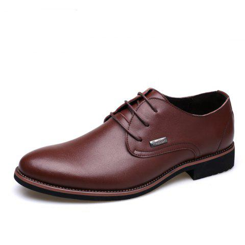 Unique Men New Trend for Fashion Outdoor Walking Lace Up Leather Business Shoes