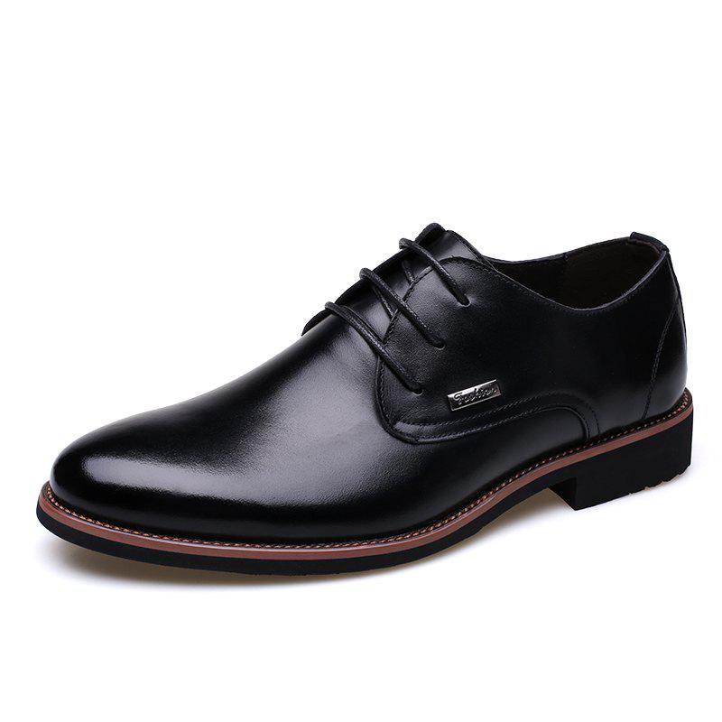 Cheap Men New Trend for Fashion Outdoor Walking Lace Up Leather Business Shoes