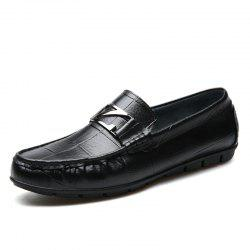 Male Outdoor Soft Driving Flat Loafers Leather Men Casual Shoes -