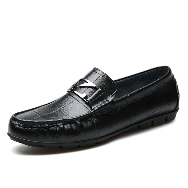 Unique Male Outdoor Soft Driving Flat Loafers Leather Men Casual Shoes