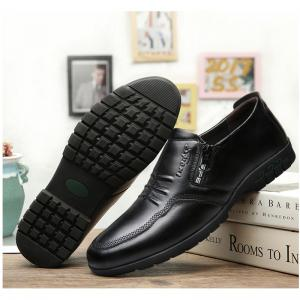 Male Comfort Flat Loafers Soft Driving Cowhide Men's Causal Shoes -