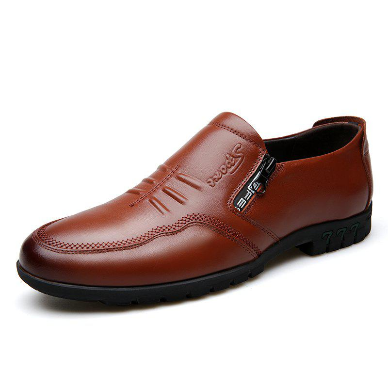 Cheap Male Comfort Flat Loafers Soft Driving Cowhide Men's Causal Shoes