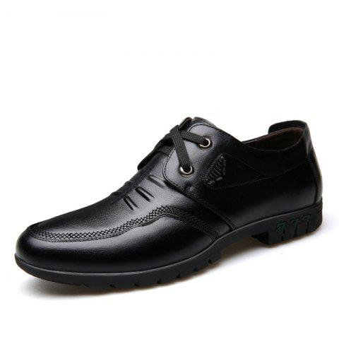 Outfits Male Cowhide Comfort Lace Up Soft Driving Leather Men's Causal Shoes