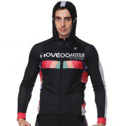 Twotwowin CM3 Men's Long Sleeve Hoodie Cycling Jersey -