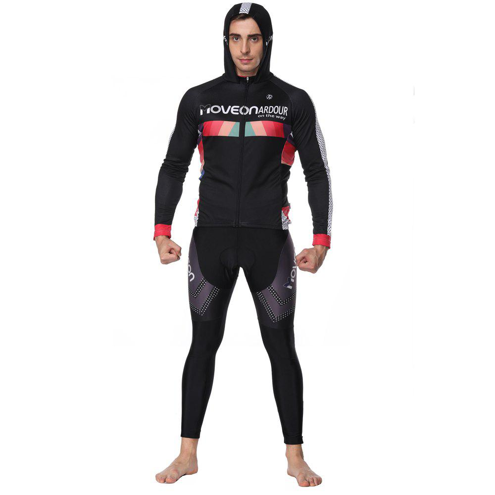Outfits Twotwowin CMSP7 Men's Hoodie Cycling Suit Jersey  Pants