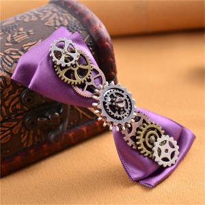 European and American Hot Steampunk Gear Fabric Butterfly Duck Mouth Hairpin -