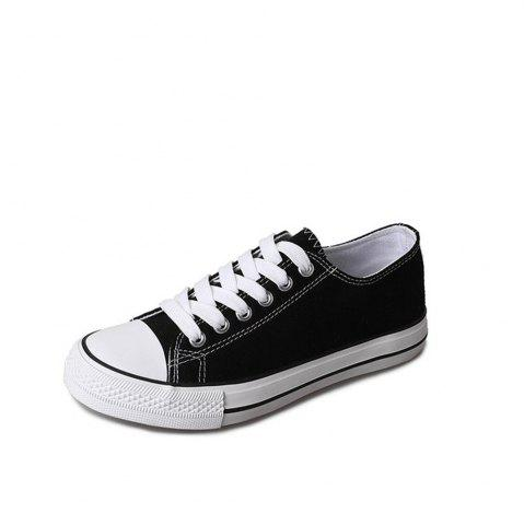 Unique New Spring All-Match Lace Student Flat Canvas Shoes