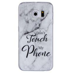 Ultra Thin Black And White Mixed color Marble Stone Patterned Soft TPU Phone Case for Samsung Galaxy S6 Edge -