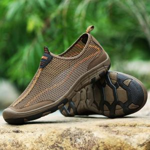 ZEACAVA Men Honeycomb Mesh Quick Drying Upstream Shoes Повседневная пляжная обувь -