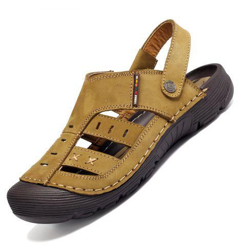 Chic Men Casual Fashion Sandals Leather Shoes