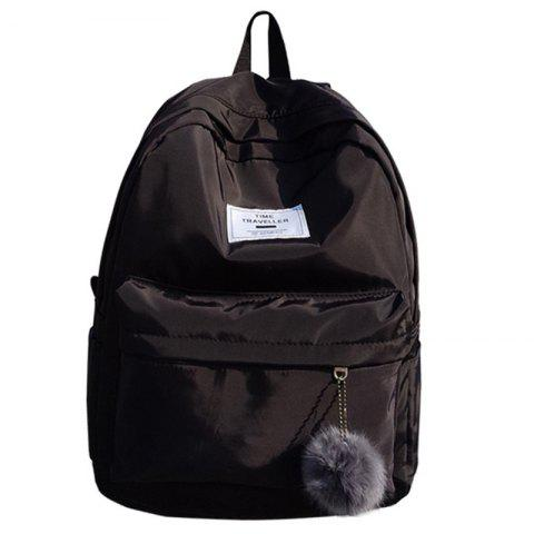 Online Simple Solid Color College Large-capacity Backpack