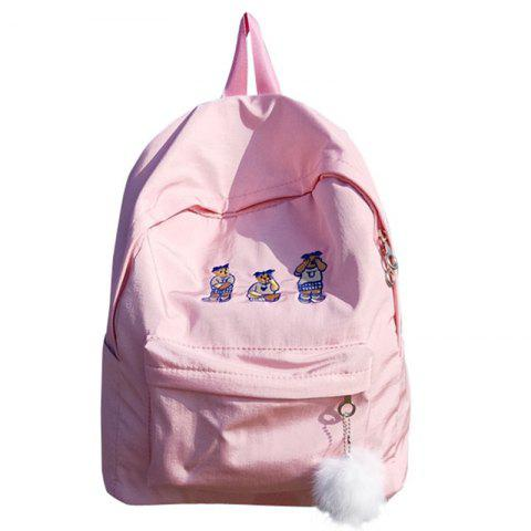 Fashion Simple Large-capacity Embroidery Backpack