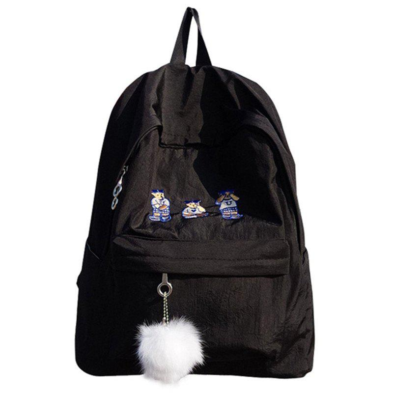Outfit Simple Large-capacity Embroidery Backpack