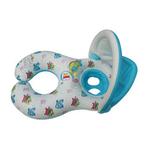 Best Removable Shading Mother-child Boat Swimming Ring