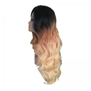Golden Large Roll Chemical Fiber Front Lace Wig -