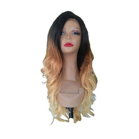Outfits Golden Large Roll Chemical Fiber Front Lace Wig