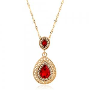New Style Wedding Dinner Earrings Droplets Pendant Necklace Set of Ornaments -