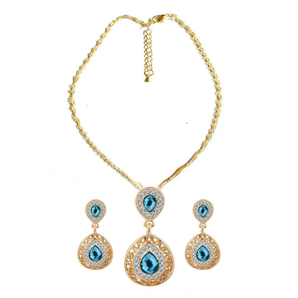 Fashion New Style Wedding Dinner Earrings Droplets Pendant Necklace Set of Ornaments