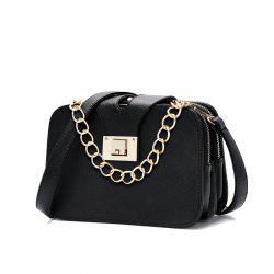 Fashionable Simple Chain Small Square Bag Trend Single Shoulder Bag -