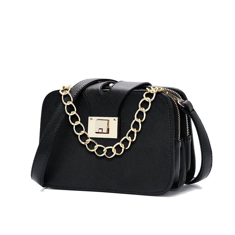 Hot Fashionable Simple Chain Small Square Bag Trend Single Shoulder Bag