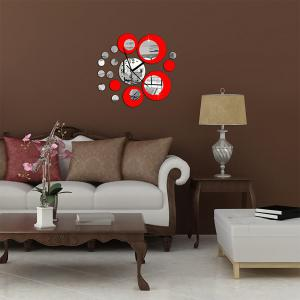 Creative Home DIY Circular Art Acrylic  Wall clock Mirror Stickers -