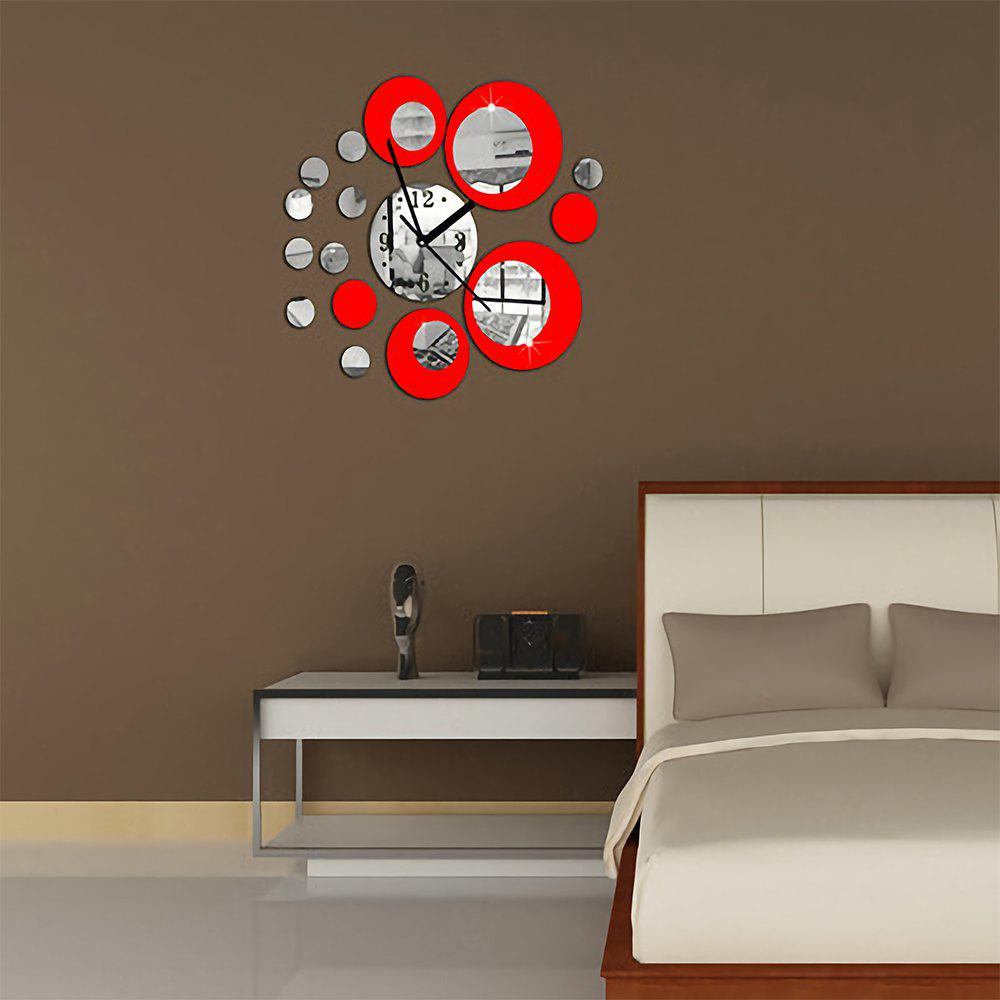 Sale Creative Home DIY Circular Art Acrylic  Wall clock Mirror Stickers