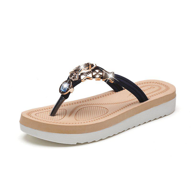 Buy Rhinestone Casual Beach Flip-Flops
