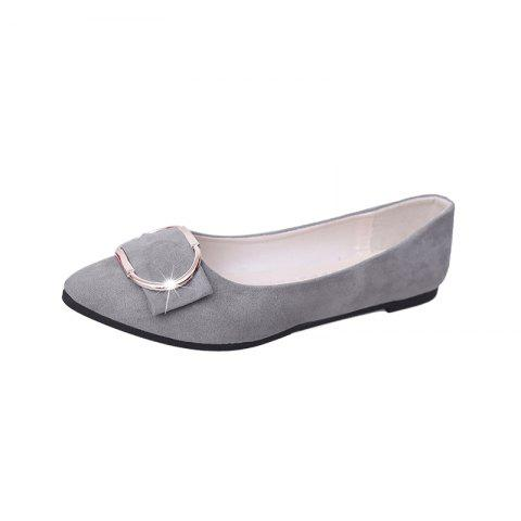 Chic Casual Shallow Mouth Flat Pointed Shoes