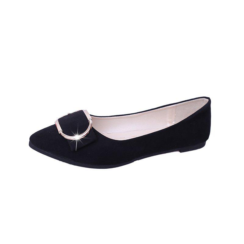 Affordable Casual Shallow Mouth Flat Pointed Shoes