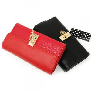 Femmes Purse Metal Hasp Design Rectangle Forme élégante -