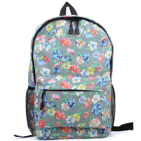 Online Women's Backpack Vintage Style Flower Print Pattern Top Fashion Bag