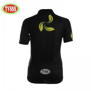 TVSSS Women Summer Short Sleeve Yellow Painted Pattern Cycling Sportswear -