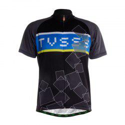 TVSSS Men Summer Short Sleeve Black Cycling Jersey Sportswear -