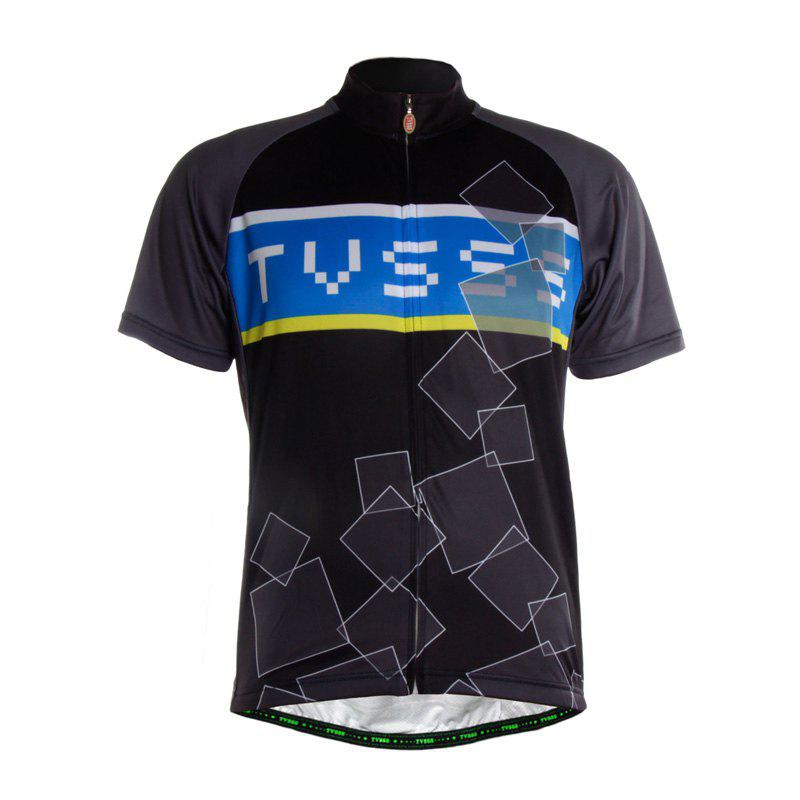 Cheap TVSSS Men Summer Short Sleeve Black Cycling Jersey Sportswear