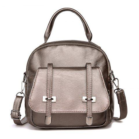 Fashion College Wind Mini Backpack New Personality Girls Soft Leather Travel Bag