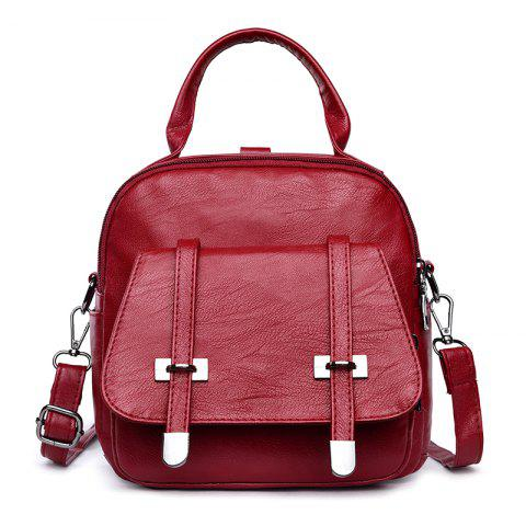 New College Wind Mini Backpack New Personality Girls Soft Leather Travel Bag