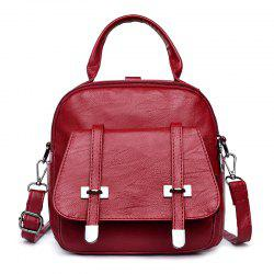 College Wind Mini Backpack New Personality Girls Soft Leather Travel Bag -