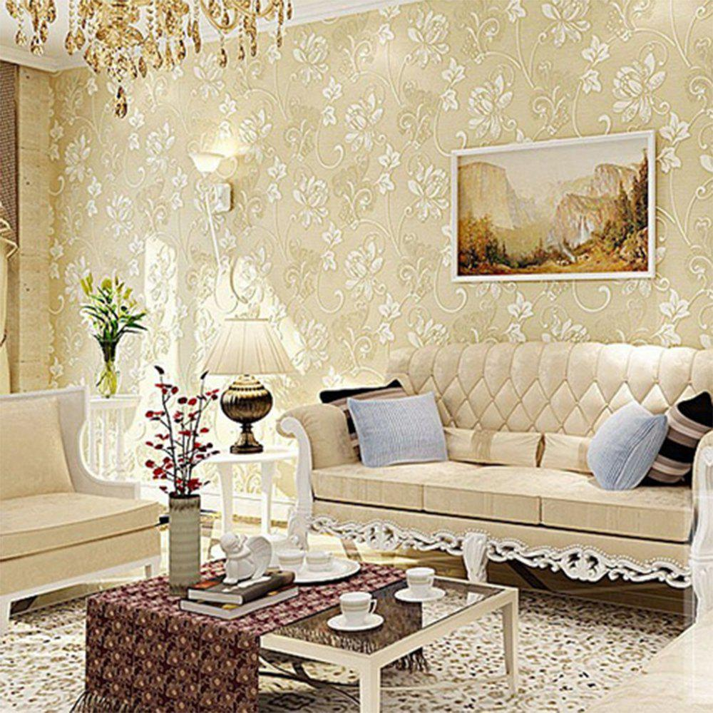 47 Off 3d Floral Wall Paper Light Color Flower Wallpaper For