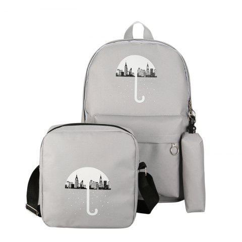 New 3Pcs Cartoon Design Student Bag