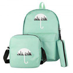 3Pcs Cartoon Design Student Bag -