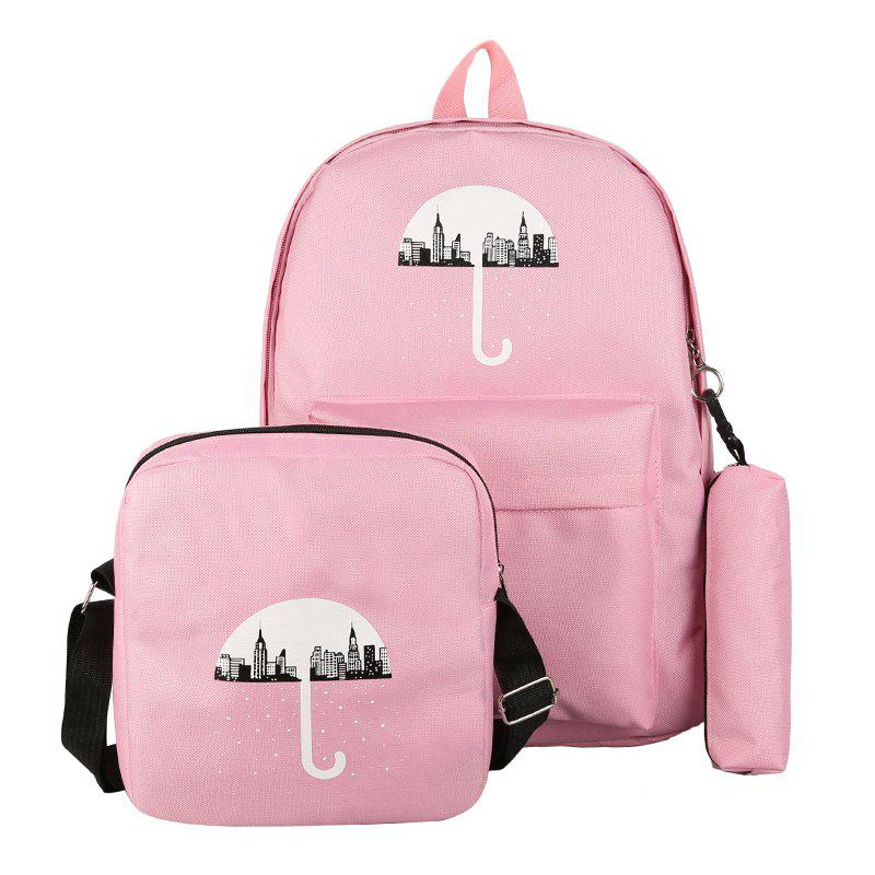 Fashion 3Pcs Cartoon Design Student Bag