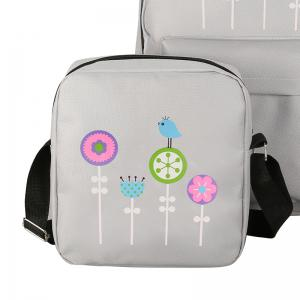 3Pcs Nylon Cartoon Student Shoulder Bag -