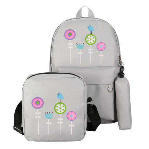 Hot 3Pcs Nylon Cartoon Student Shoulder Bag